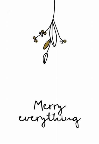 Kerstkaart Merry Everything