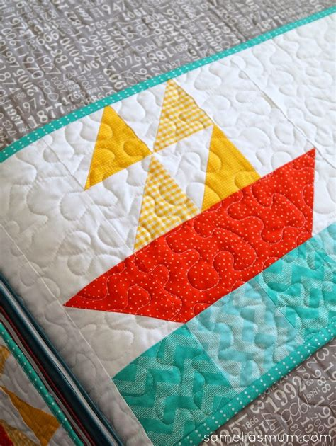 Sailboat Quilt by Nautical Quilt Block Pattern Favequilts