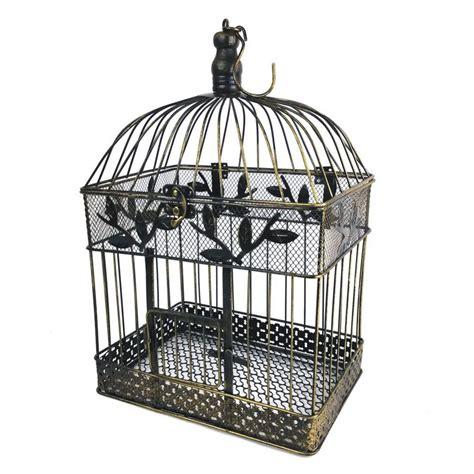 Decorative Birds - 17 in large bronze steel decorative bird cage gi1117lbn