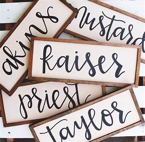 custom name wood sign hand lettered With hand lettered wooden signs