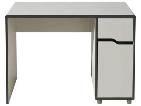 chambre moby bureau 1 porte 1 tiroir moby coloris blanc gris vente