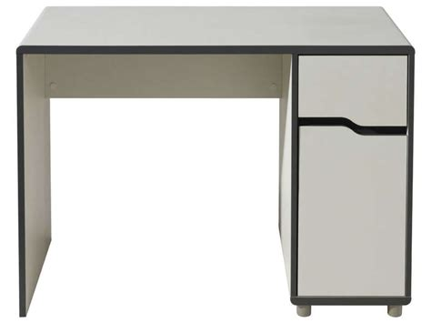 bureau a conforama bureau 1 porte 1 tiroir moby coloris blanc gris vente