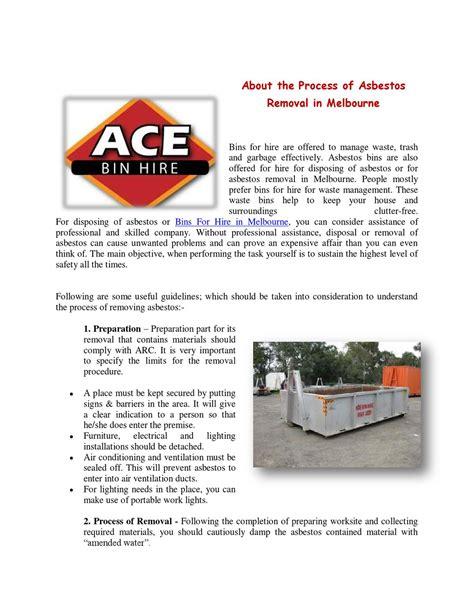disposing  asbestos  ace bin hire issuu