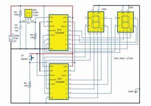 Digital Visitor Counter Circuit Diagram