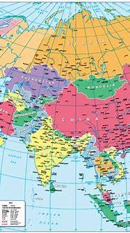 Children's Political map of Asia - £14.99 : Cosmographics Ltd