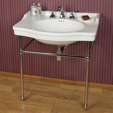 bathroom sink consoles vintage luciana console sink with brass stand