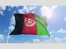 Flag Of Afghanistan Beautiful 3d Animation Of The