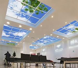 Led Panel Himmel : beleuchtung bildfliese leuchtstofflampen dimmer deckenplatten deckenfenster ~ Orissabook.com Haus und Dekorationen