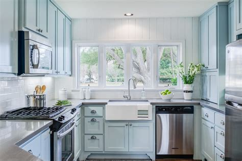 blue and white kitchen cabinets blue cottage kitchen cabinets kitchen beach style with