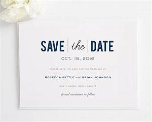 Date Monogram Save the Date Cards - Save the Date Cards by ...