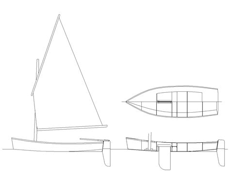 Skiff Boat Drawings by Drawings For A Model Of The Sailing Version Of The