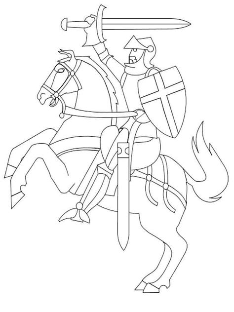 knights coloring pages   print knights
