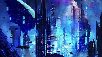 Sci Fi Future Futurism Background Fantastic 4k