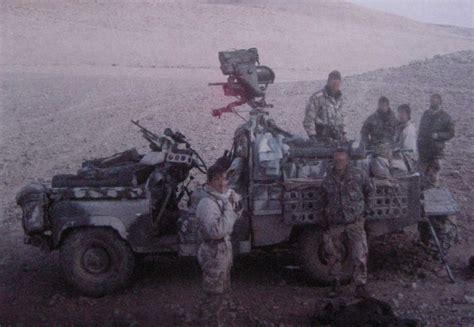 sas land rover d squadron 22 sas mobile convoy during op granby land