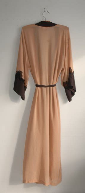 s secret beige sheer silk robe lace panel casual maxi dress size 4 s tradesy
