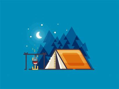 Camping Night Forest Animation Motion Paradise Tent