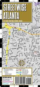 Streetwise Atlanta Map - Laminated City Center Street Map Of Atlanta  Georgia