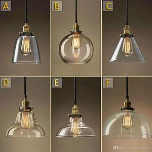 Vintage Chandelier Diy Led Glass Pendant Light Pendant ...