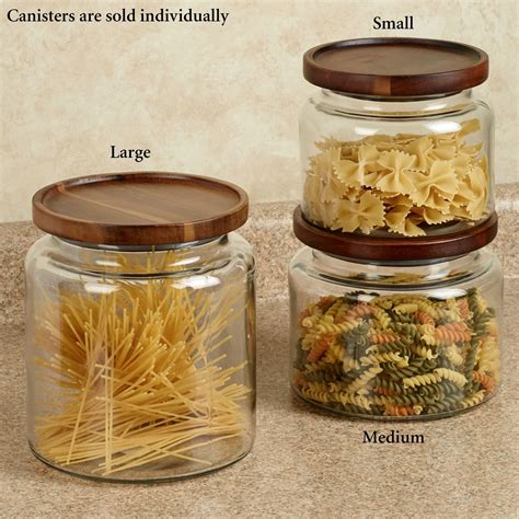 kitchen glass canisters calvina stackable glass kitchen canisters