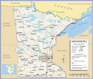 Reference Maps Of Minnesota  Usa