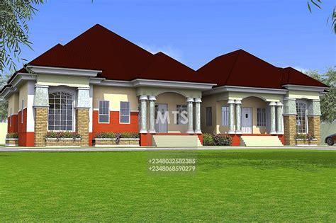 tunde   bedroom semi detached bungalow modern  contemporary nigerian building designs