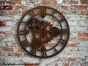Deco Murale Industrielle : horloge engrenages d co industrielle antic line seb12437 ~ Teatrodelosmanantiales.com Idées de Décoration