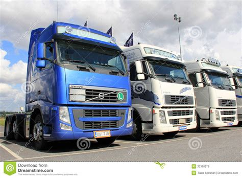 volvo group trucks row of volvo trucks editorial image image of duty