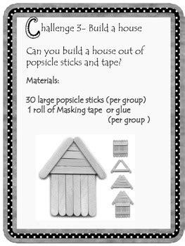 kindergarten popsicle stick stem challenge  stemsational