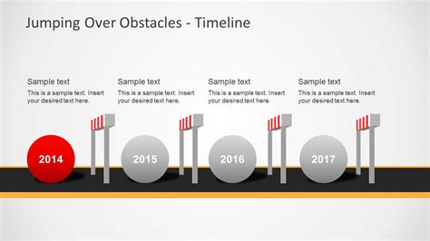 challenges hurdles timeline  powerpoint slidemodel