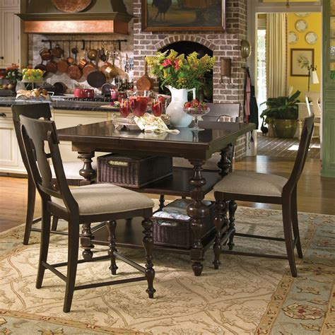 dining tables paula deen home gathering table 5 counter height set 2090