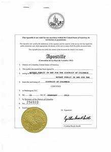 washington dc apostille certification this is a sample With document authentication services washington dc