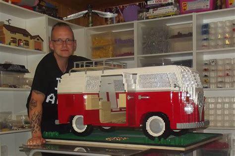 vw bulli lego lego volkswagen t1 quot bulli quot cingbus 10220 in zusammengebaut