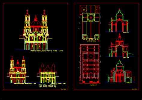neo colonial churchs dwg block  autocad designs cad