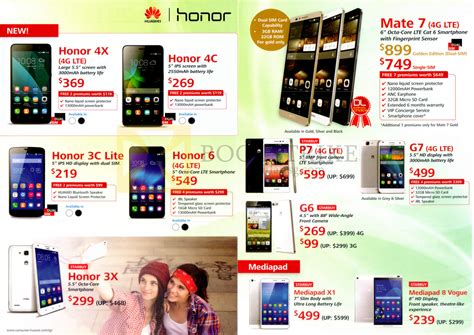 huawei mobile phone price list huawei mobile phones honor 4x 4c 3c lite 6 3x mate 7