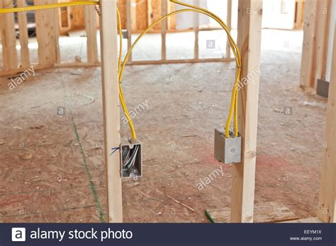 Electrical Wiring New Home Construction Stock Photo