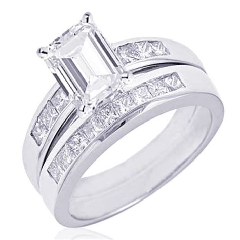 low price 1 00 ct emerald cut diamond wedding engagement ring channel vs2 14k gold coupon