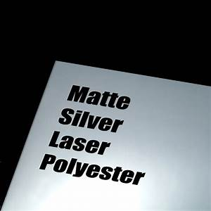 Window Sizes Chart Matte Silver Laser Polyester Adhesive Film 8 5 X 11 100