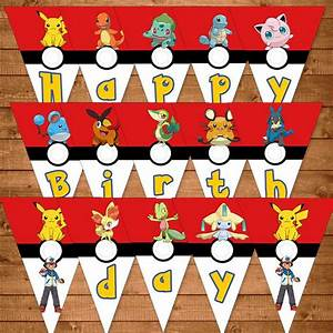 Deco Anniversaire Pokemon : pokemon party decorations google suche lukas pokemon ~ Nature-et-papiers.com Idées de Décoration