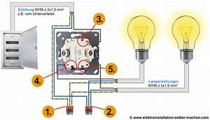 Aufputz Lichtschalter Anschließen : serienschalter anschlie en serienschaltung anschliessen elektroinstallation selber ~ Watch28wear.com Haus und Dekorationen