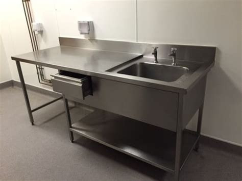 used stainless steel table with sink for sale secondhand catering equipment single sinks commercial