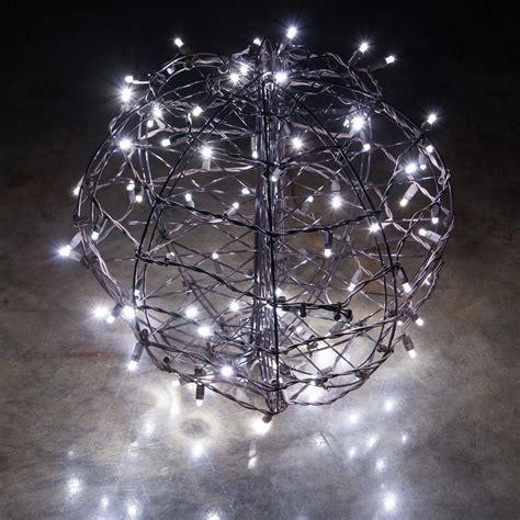 cool white led christmas light ball fold flat brown frame