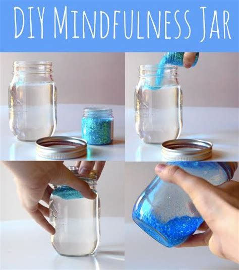 diy craft down mindfulness jar do it and how