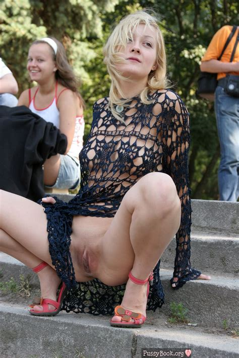 Crazy Girl Flashing Her Cunt In Public Pussy Pictures