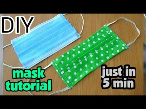 diy reusable face mask tutorial step  step homemade