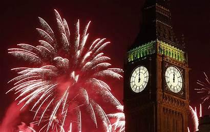 Ben Fireworks London Desktop Clock Celebration Midnight