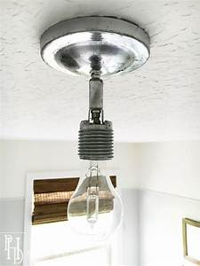 Diy orb ceiling light fixture