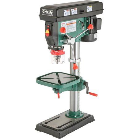 grizzly   speed heavy duty bench top drill press