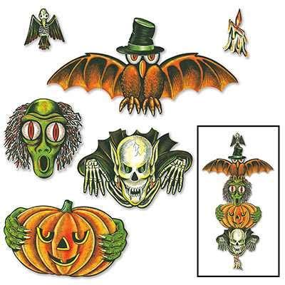 halloween totem pole cutouts
