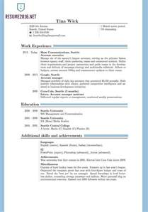 Standard Resume Format by Resume Format 2016 12 Free To Word Templates Standard Resume Format 2016 Jennywashere