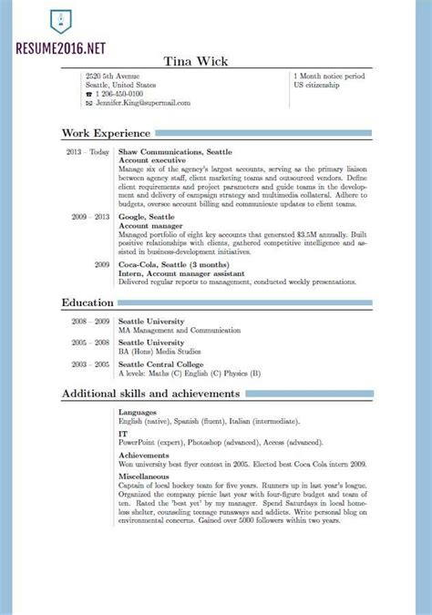 Standard Resume Templates by Resume Format 2016 12 Free To Word Templates Standard Resume Format 2016 Jennywashere